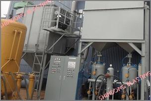 Dây chuyền máy phun bi tổng đoạn <br/> tại Công ty Sông Cấm