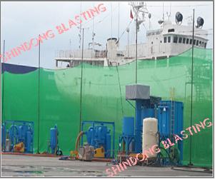 Dây chuyền phun bi di động <br/> sửa chữa tàu